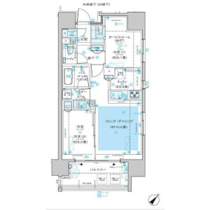 1SLDK Mansion in Hommachi - Shibuya-ku Floorplan