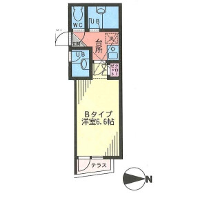 1K Mansion in Maginu - Kawasaki-shi Miyamae-ku Floorplan