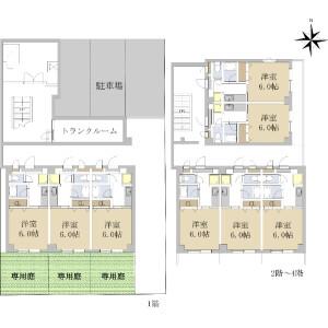 Whole Building {building type} in Tsukimicho - Toyota-shi Floorplan