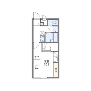 大阪市天王寺区逢阪-1K公寓 楼层布局