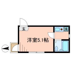 1K Apartment in Hinodecho - Adachi-ku Floorplan