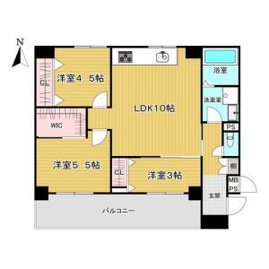 3LDK {building type} in Esakacho - Suita-shi Floorplan
