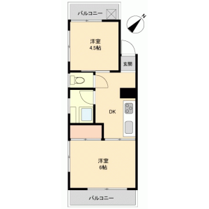 2K {building type} in Shinden - Adachi-ku Floorplan
