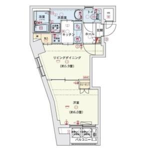 1LDK Mansion in Miyamotocho - Itabashi-ku Floorplan