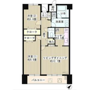 2LDK Mansion in Shoto - Shibuya-ku Floorplan