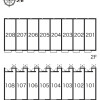 1K Apartment to Rent in Tomisato-shi Layout Drawing