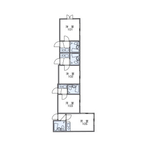 品川區大井-1R公寓 房間格局