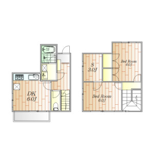 2SDK Town house in Nakameguro - Meguro-ku Floorplan