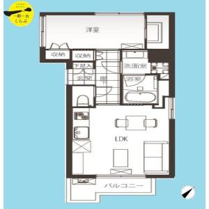 1LDK {building type} in Minato - Chuo-ku Floorplan