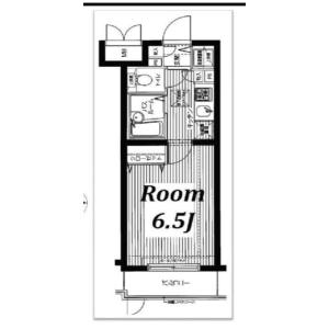 新宿區高田馬場-1K公寓大廈 房間格局