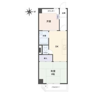 2DK Apartment in Nakanobu - Shinagawa-ku Floorplan