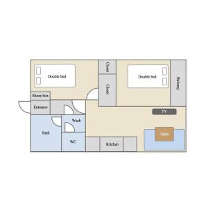 2DK Mansion in Komagome - Toshima-ku Floorplan