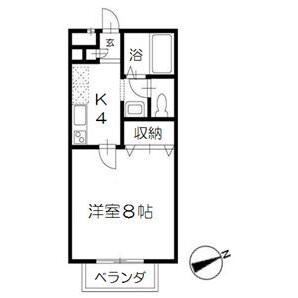 1K Apartment in Anagawa - Chiba-shi Inage-ku Floorplan