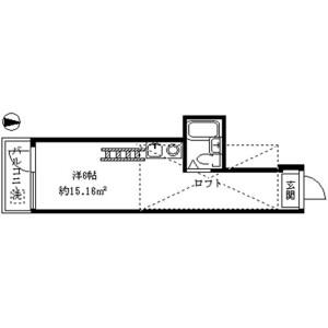 中野區上高田-1R公寓 房間格局