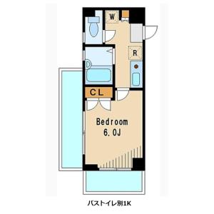 杉並区堀ノ内-1K公寓大厦 楼层布局