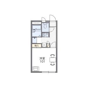 成田市並木町-1K公寓 楼层布局