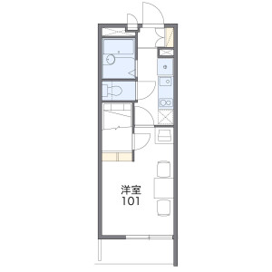 1K Mansion in Aoki - Kawaguchi-shi Floorplan