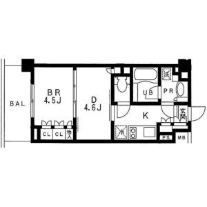 1DK Apartment in Ikebukuro (2-4-chome) - Toshima-ku Floorplan
