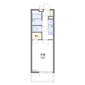 1K Apartment in Maebara higashi - Funabashi-shi Floorplan