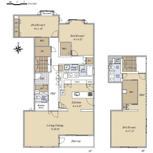 3LDK {building type} in Higashigotanda - Shinagawa-ku Floorplan