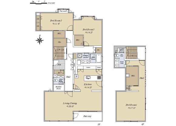 3LDK Apartment to Buy in Shinagawa-ku Floorplan