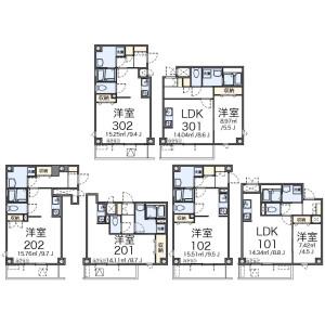 1LDK Apartment in Okubo - Shinjuku-ku Floorplan