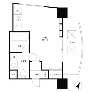 1R Mansion in Higashi - Shibuya-ku Floorplan