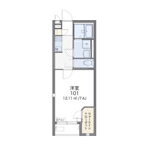 1K Apartment in Matsumicho - Yokohama-shi Kanagawa-ku Floorplan