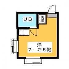 台东区浅草橋-1R公寓大厦 楼层布局