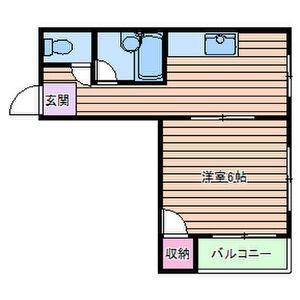 大阪市住吉区長居-1DK公寓大厦 楼层布局