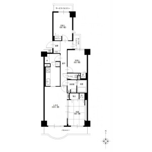 3LDK {building type} in Kawakamicho - Yokohama-shi Totsuka-ku Floorplan