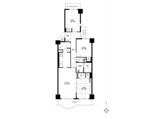 3LDK Apartment to Buy in Yokohama-shi Totsuka-ku Floorplan