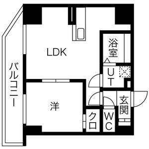 1LDK Mansion in Atsubetsuchuo 3-jo - Sapporo-shi Atsubetsu-ku Floorplan