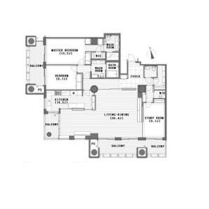 3LDK Apartment in Akasaka - Minato-ku Floorplan