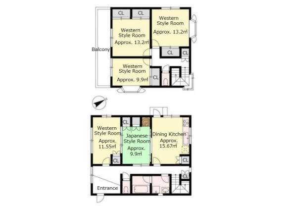 5DK House to Buy in Otsu-shi Floorplan