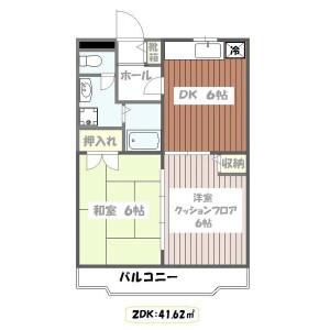 江戶川區西葛西-2DK公寓大廈 房間格局