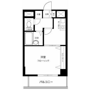 澀谷區富ヶ谷-1K公寓大廈 房間格局