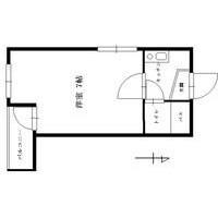 1R Apartment in Aikawa - Osaka-shi Higashiyodogawa-ku Floorplan
