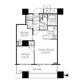 2SDK Mansion in Higashigotanda - Shinagawa-ku Floorplan