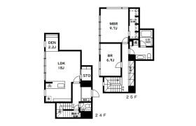 2LDK Apartment in Mita - Minato-ku