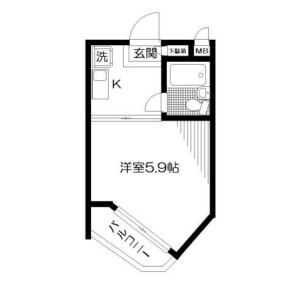 1K Apartment in Shimoigusa - Suginami-ku Floorplan