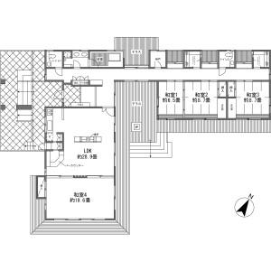 北佐久郡軽井沢町軽井沢(大字)-4LDK{building type} 楼层布局