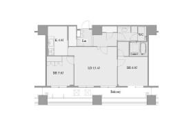 2LDK Mansion in Chikusa - Nagoya-shi Chikusa-ku