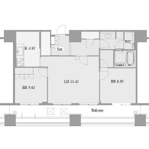 2LDK Apartment in Chikusa - Nagoya-shi Chikusa-ku Floorplan