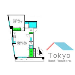 杉並区高円寺北-1LDK公寓大厦 楼层布局