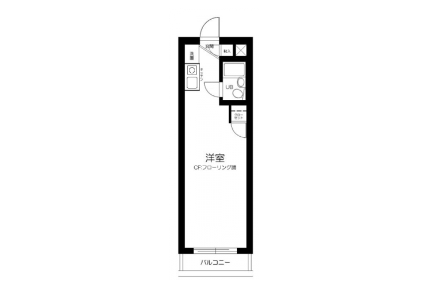 1R Apartment to Rent in Sumida-ku Floorplan
