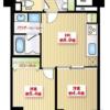 2DK Apartment to Buy in Minato-ku Floorplan