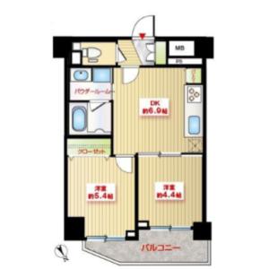 2DK Apartment in Higashiazabu - Minato-ku Floorplan