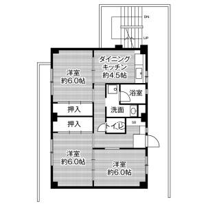 3DK Mansion in Kambe - Tsu-shi Floorplan