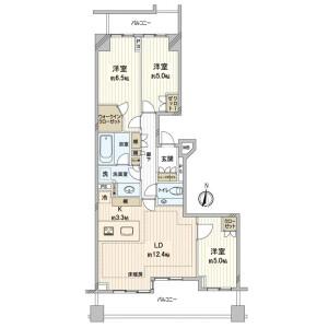 3LDK {building type} in Nakamachi - Setagaya-ku Floorplan